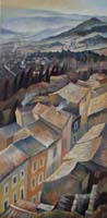 LUBERON ROOFTOPS IN WINTER - 120x60