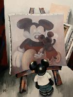 MICKEY IN THE STUDIO - 130x97