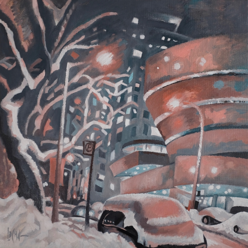 WINTERNIGHT IN FIFTH AVENUE - 60x60