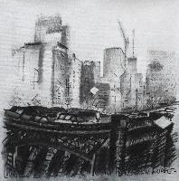 ON BROOKLYN BRIDGE - 50x50
