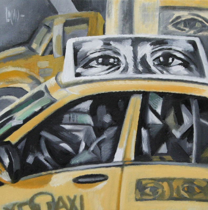 YELLOW CAB ON CANAL ST - 35x35
