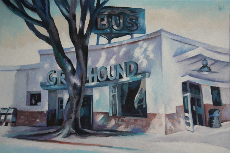 WAITING FOR THE BUS - 81x54